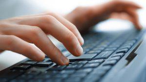 Typing keyboar