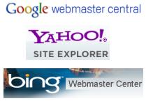 google-yahoo-bing-webmaster-center-logos